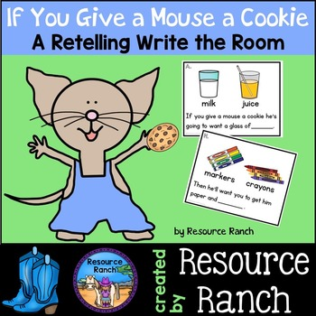 If You Give a Mouse a Cookie Retelling Write the Room