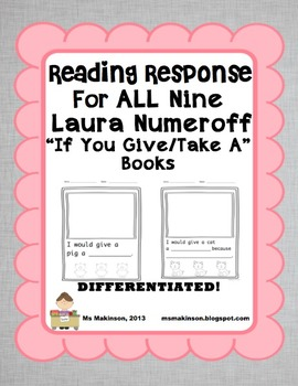 """If You Give/Take A"" by Laura Numeroff - Reading Response"
