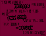 """""""If You Are Willing To Be Puzzled..."""" Printable Classroom Poster"""