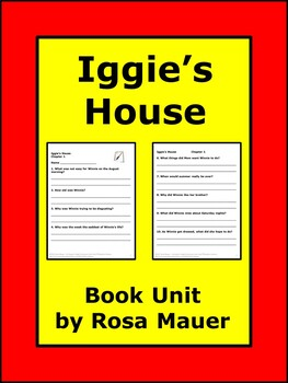 Iggie's House Reading Comprehension Questions