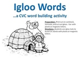 Igloo Words - A Winter CVC word building activity