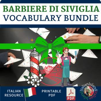 Il Barbiere di Siviglia Vocabulary Practice Activity Bundle.