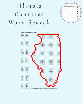 Illinois County Word Search