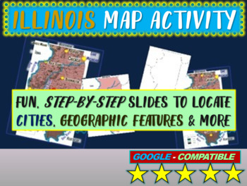 Illinois Map Activity- fun, engaging, follow-along 18-slide PPT