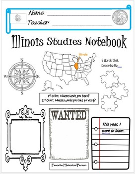 Illinois Notebook Cover