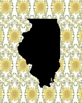 FREEBIE! Illinois Vintage State Map or Poster Class Decor,