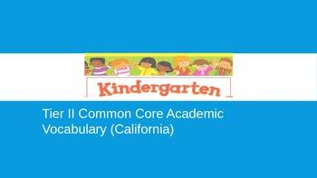 Illustrated California Common Core Tier II Academic Vocabu
