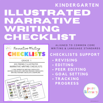 Kindergarten Illustrated Narrative Writing Checklists