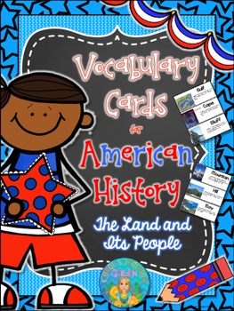 Illustrated Vocabulary Cards for American History: the Lan