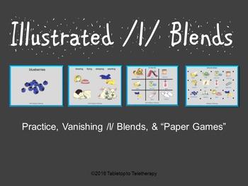 Illustrated /l/ Blends: Practice, Vanishing /l/ Blends, &
