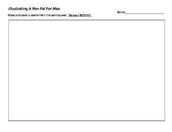 Illustrating Worksheet for A Pen Pal for Max