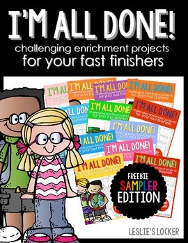 I'm All Done! (fast finisher projects sampler FREEBIE)