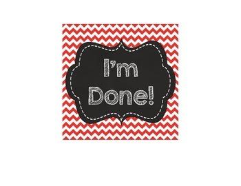 I'm Done!