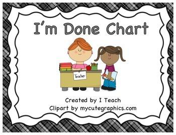 I'm Done Chart-plaid