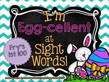 """I'm """"Egg-cellent"""" at SIght Words BUNDLE {Easter Egg Sight"""