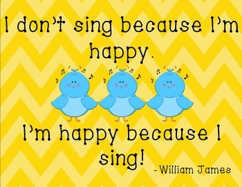 I'm Happy Because I Sing Sign