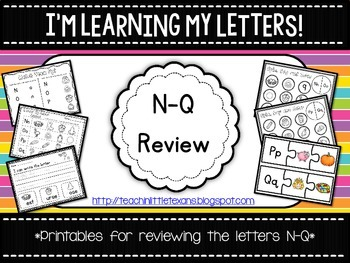 I'm Learning My Letters! {N-Q Review}