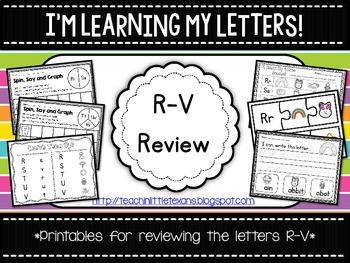 I'm Learning My Letters! {R-V Review}