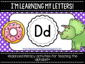 I'm Learning My Letters! {Unit D}