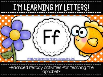 I'm Learning My Letters! {Unit F}