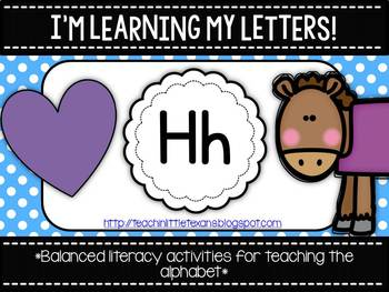 I'm Learning My Letters! {Unit H}