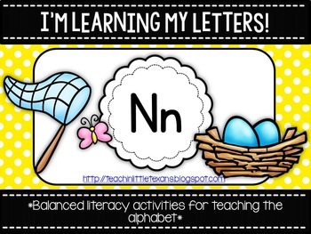 I'm Learning My Letters! {Unit N} Freebie