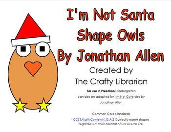I'm Not Santa Shape Owl