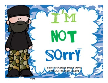 I'm Not Sorry- a multiplication game