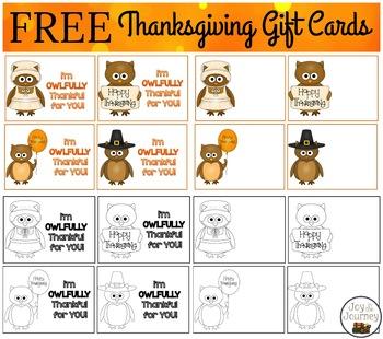 I'm OWLFULLY Thankful For You! Gift Tags FREEBIE
