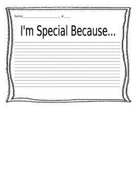 I'm Special Because...