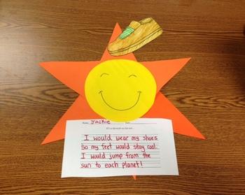"""Walkin' on Sunshine!""Sun/Weather craftivity and printables"