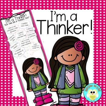 Critical Thinking: I'm a Thinker! InfoGraphic (Girl Version)