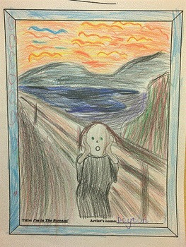 I'm in The Scream! - Lines in Art worksheet