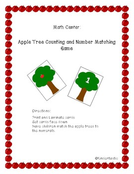 Apple Tree Number Matching Game (Numbers 1-10)