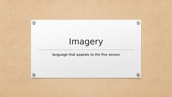 """Imagery - the five senses - more than just """"seeing it"""""""