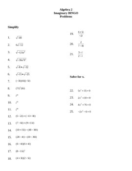 Imaginary Numbers Worksheet: Pictures Imaginary Numbers Worksheet   Beatlesblogcarnival,