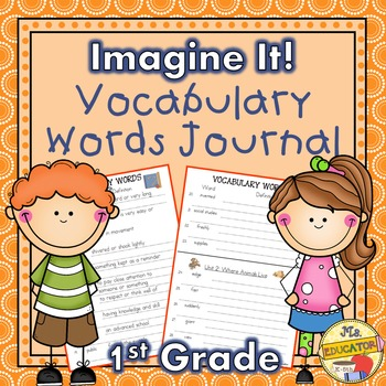 Imagine It! 1st Grade Vocabulary Words (Listed by Units -