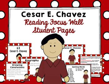 """Imagine It """"Cesar E. Chavez"""" Unit 6.5 Reading Focus Wall"""