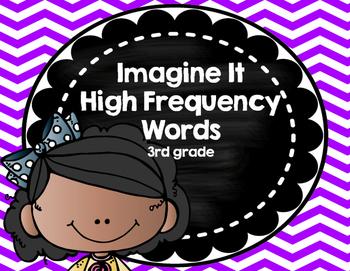 Imagine It SRA High Frequency Words 3rd grade -  purple chevron