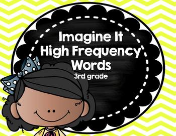 Imagine It SRA High Frequency Words 3rd grade -  yellow chevron