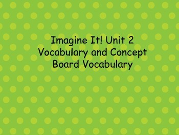 Imagine It! Unit 2 for First Grade