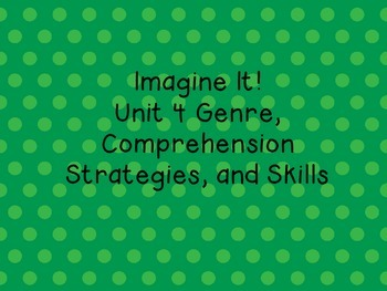 Imagine It! Unit 4 Genre and Comprehension posters for Fir