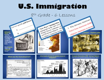 Immigration - 6 day unit - PRINTABLE with PowerPoint and a
