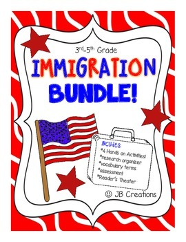 Immigration Bundle for 4th grade Social Studies (new learn