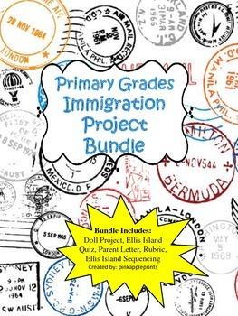 Immigration Project Bundle: Doll project, Ellis Island activities
