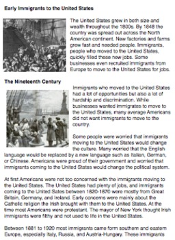 Immigration Reading and Handout: Easy Read