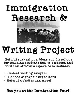 Immigration Research and Writing Project