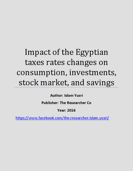Impact of taxes rates on consumption, investments, stock mark