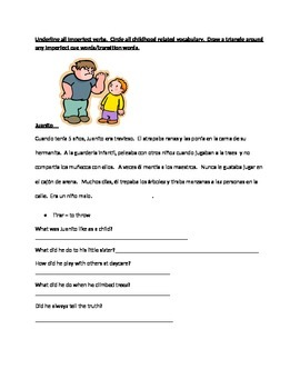 Imperfect Reading Comprehension Activities with Annotation