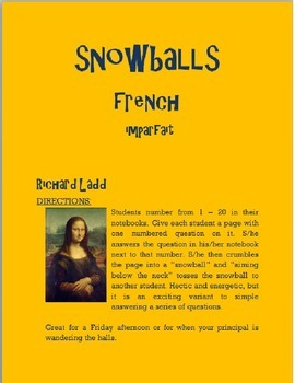 Imperfect Snowballs FRENCH